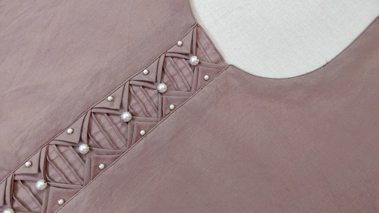Very Beautiful and Latest Neck Design for Kurti/Suit Cutting and Stitching