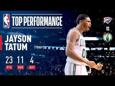 Jayson Tatum Drops 23 pts In Thriller vs OKC