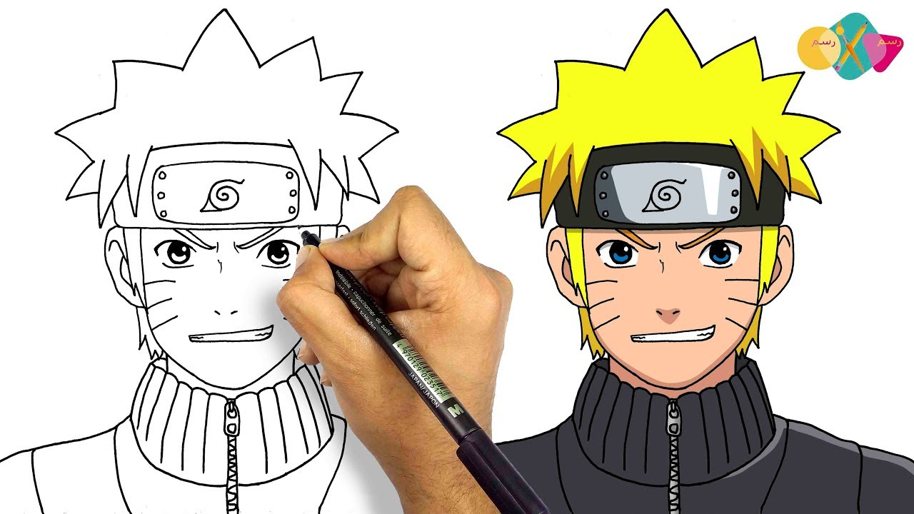 How To Draw Naruto Shippuden From Naruto Anime Series Step By Step For Beginners