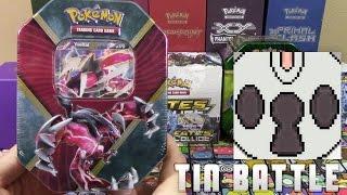 Pokemon Cards - EARLY Shiny Yveltal EX Kalos Trio Tin Opening Battle vs 8-Bit bboc!