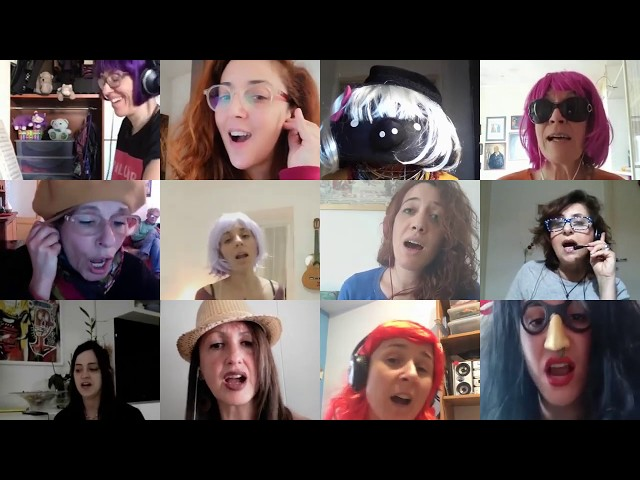 Video Killed the Radio Star - The Buggles cover - HurlaHoop Choir