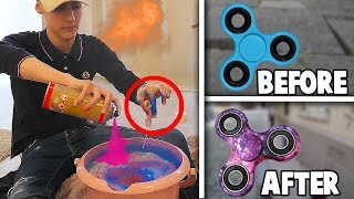 FIDGET SPINNERS HYDRO DIPPEN! (SUPER EPIC)