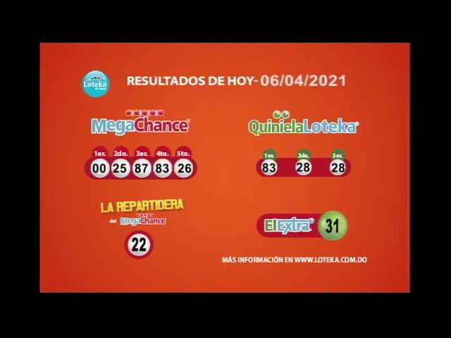 Loteka Lotería Electrónica Sorteo 07:55 PM 06-04-2021