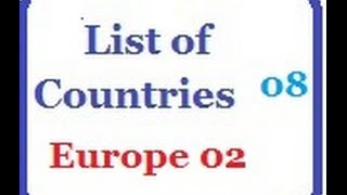 List of Countries 08