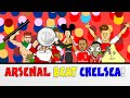 Wenger BEATS Mourinho Arsenal vs Chelsea 1-0 Community Shield 2015(Cartoon Goals Highlights)