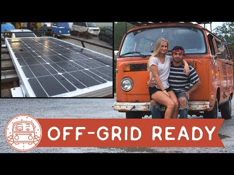 VW Bus: Solar Panel Installation #VanLife Ready
