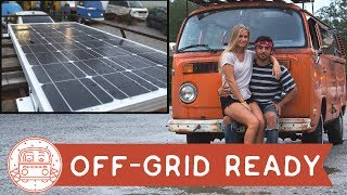VW Bus: Solar Panel Installation #VanLife Ready