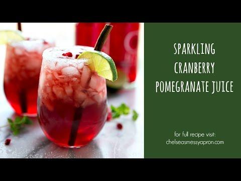 Sparkling Cranberry Pomegranate Juice (Non-Alcoholic)