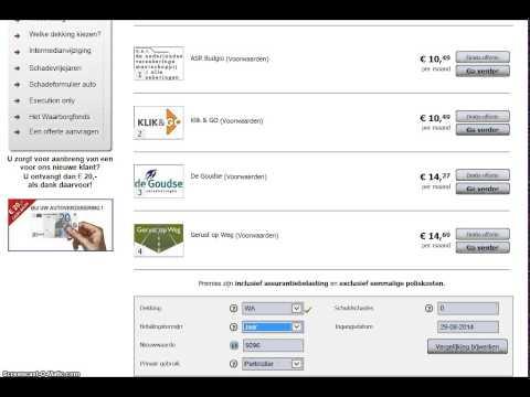premie vergelijker autoverzekeringen wwwhanssnabelnl