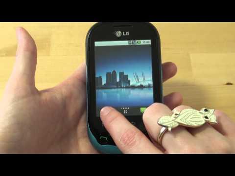 LG C550 Optimus Chat Test Bedienung