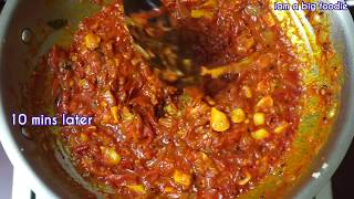 Spicy Tomato Onion thokku  for rice, chapati, roti, idli and dosa..!!!!||| tomato thokku recipe