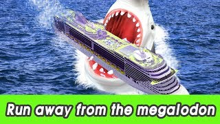 [EN] #97 Run away from the megalodon! kids education, learn animals name, CollectaㅣCoCosToy