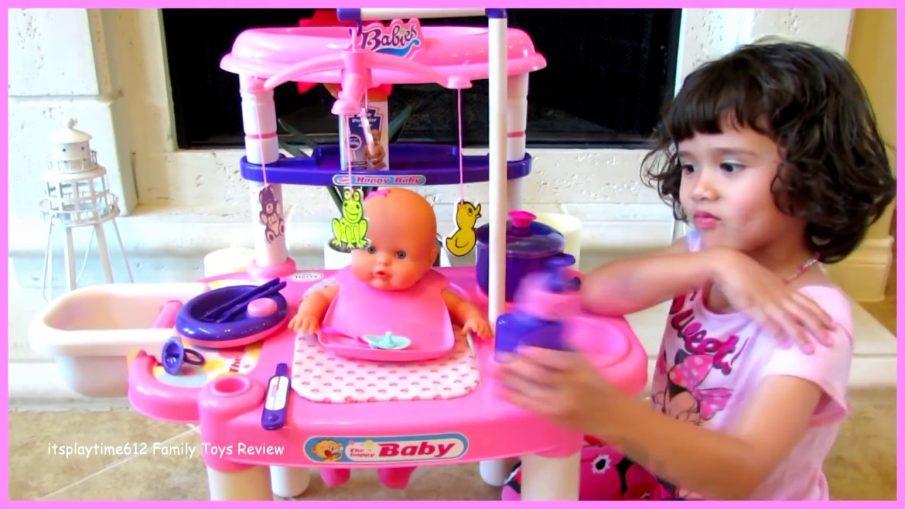 Toy Baby Doll Center : Toy baby doll nursery center playset for kids
