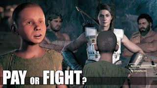 Pay VS Fight Arsenios - The Grand Minotour (All Dialogue Choices) - Assassin's Creed Odyssey