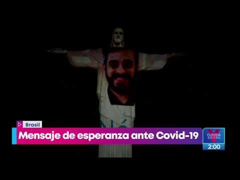 ¡Visten de médico al Cristo Redentor de Brasil! | Noticias con Yuriria Sierra
