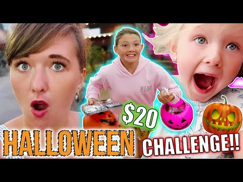 HALLOWEEN $20 WALMART CHALLENGE! - DISNEY FLORIDA 2017 DAY 12!