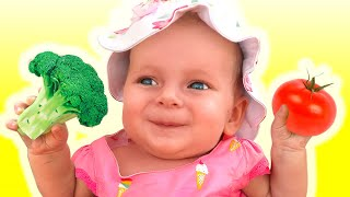 Yes Yes Vegetables Song - Nursery Rhymes by Maya and Mary