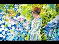 How to paint an impressionist Lady In a Garden with  a step by step tutorial