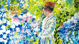 #thinkpinkart How to paint a Lady in the Garden