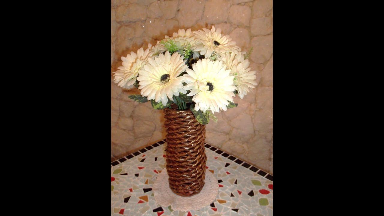 Armario Escobero Ikea ~ Artesanato vaso redondo torcido feito de jornal e papel u00e3o YouTube