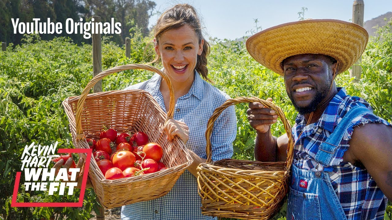 Farming With Jennifer Garner And Kevin Hart Youtube