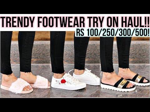 Kolkata's trendy footwear try-on haul Rs100/250/300/500