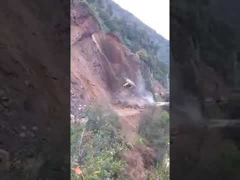JCB accident at Jammu Srinagar highway