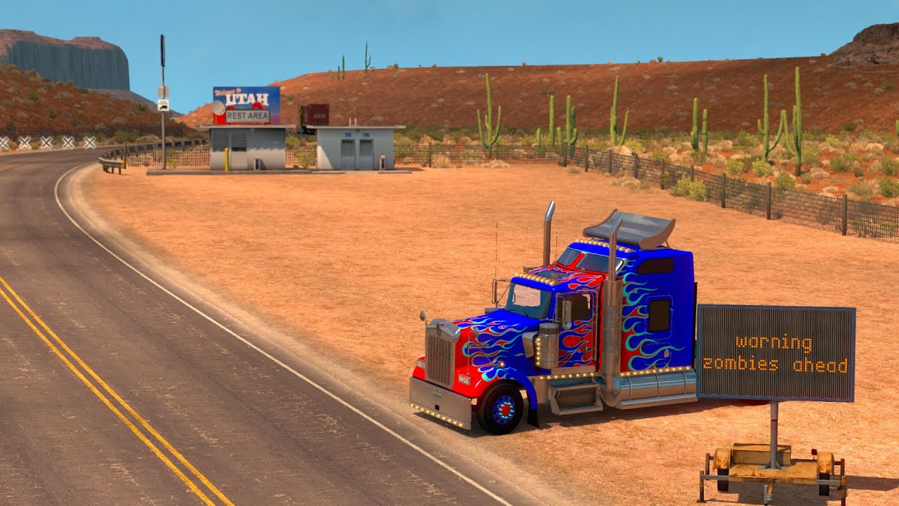 american truck simulator road to utah youtube. Black Bedroom Furniture Sets. Home Design Ideas
