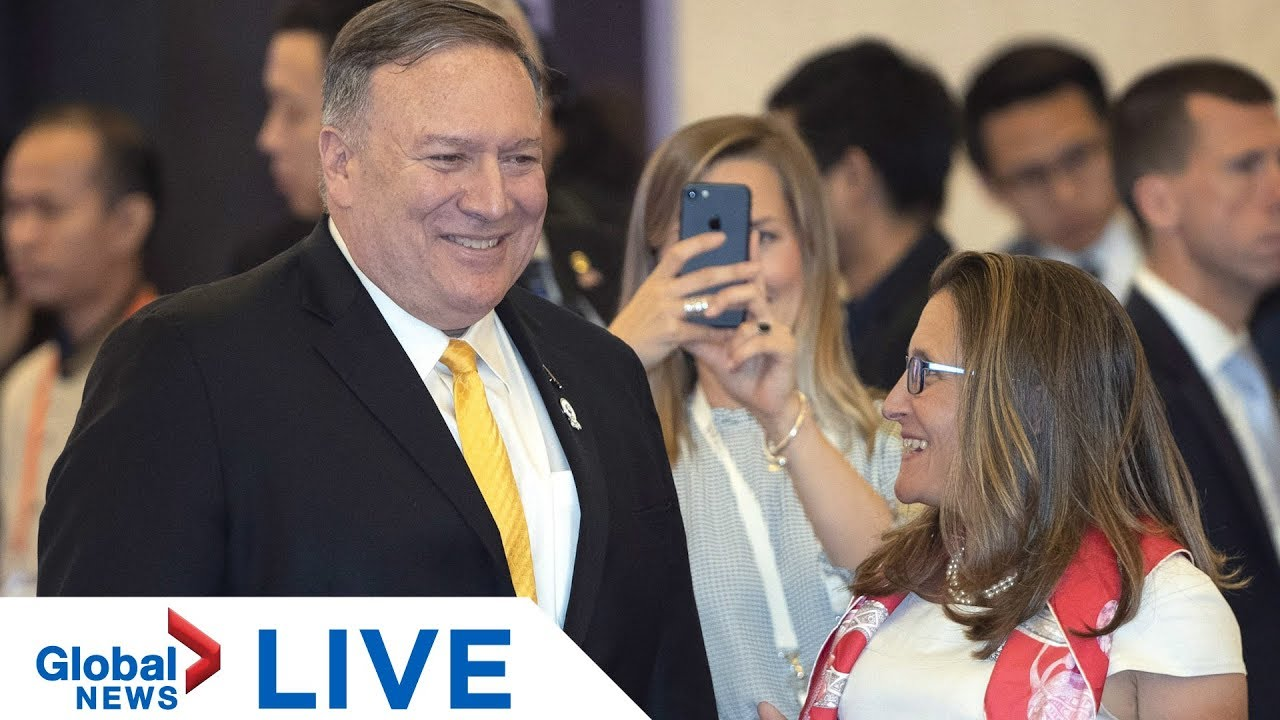 Pompeo, Freeland meet, expected to discuss detained Canadians in China, Hong Kong protests | LIVE