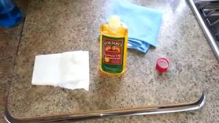 Rv Maintenance - Oil Treating The Wood Cabinetry