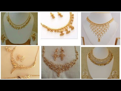 New and designer Gold necklace jewelry  2019/Gold necklace design