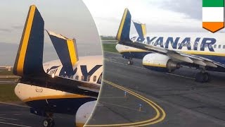 Deux avions d'une compagnie lowcosts se percutent à l'aéroport de Dublin
