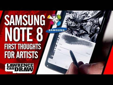 Samsung Note 8 - Artists first impressions