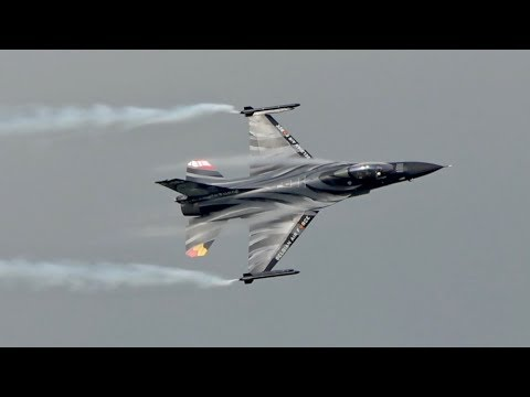 General Dynamics F-16AM Fighting Falcon Belgian Air Force flying Display AirPower 2019 Airshow