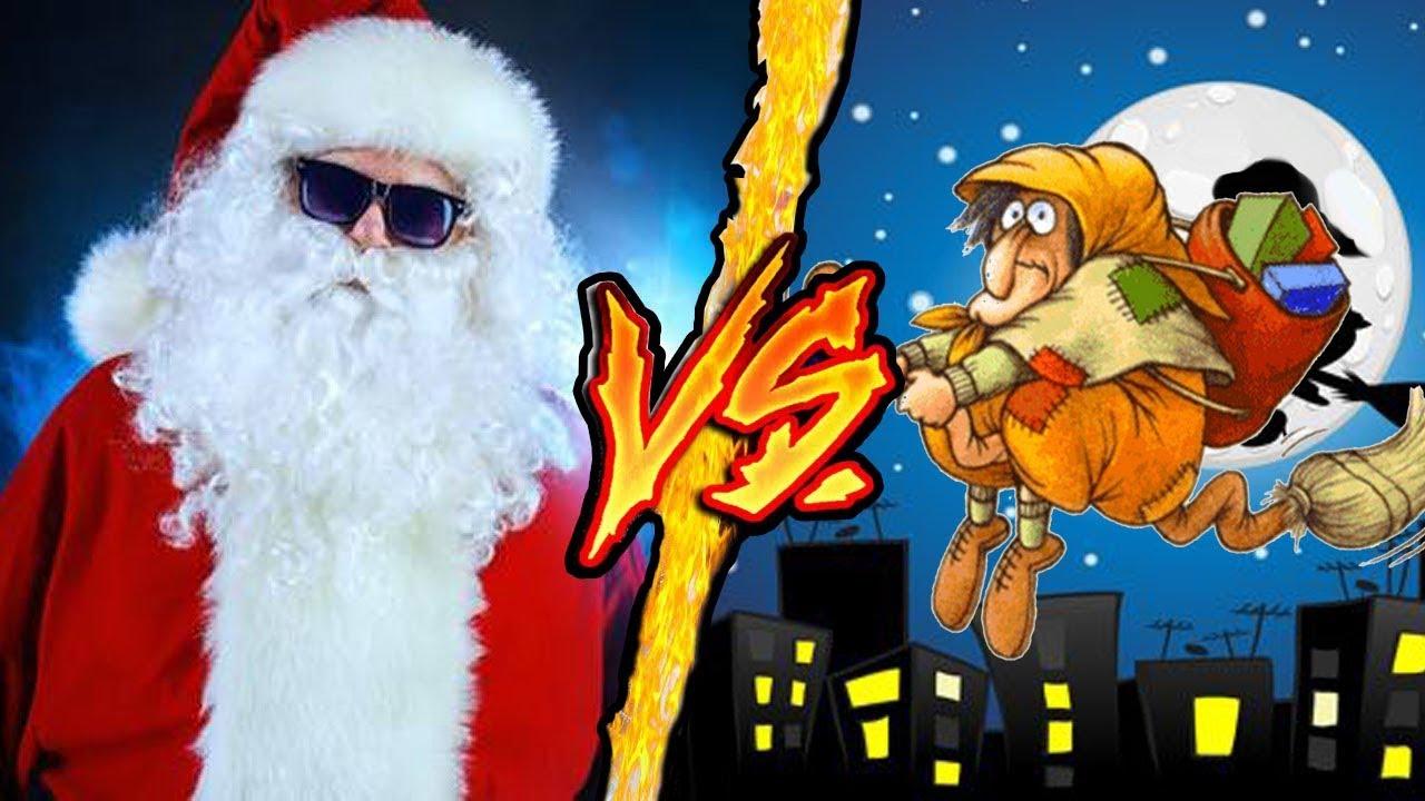 Babbo Natale E Befana.Babbo Natale Vs La Befana Battaglia Rap Epica Manuel Aski Youtube