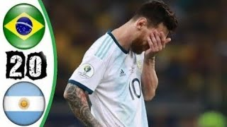 ملخص مباراة البرازيل والارجنتين 2-0 عصام الشوالي كوبا امريكا