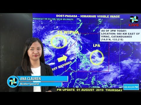 Public Weather Forecast Issued at 4:00 AM August 02, 2019