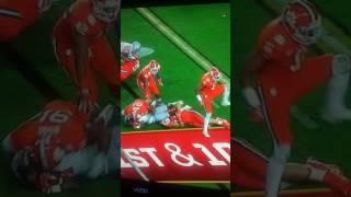 Clemson football player fondles Ohio State football player