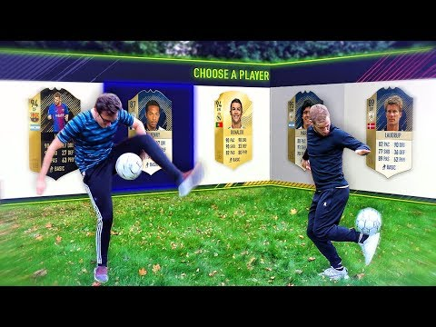 FREESTYLE FOOTBALL CHALLENGES!!! FIFA 18 FUT Draft Showdown Feat. Garden Freestyle Challenges