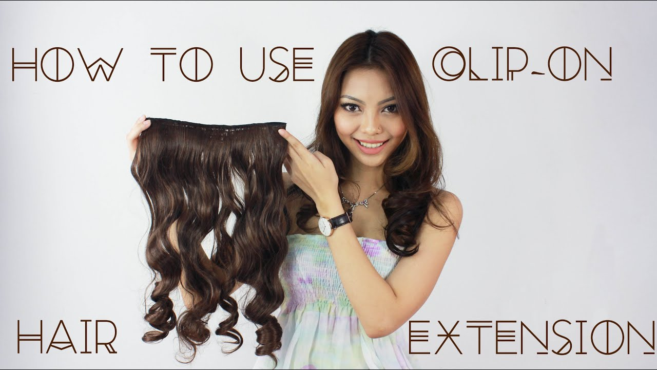 How To Use Clip On Curly Hair Extension Youtube
