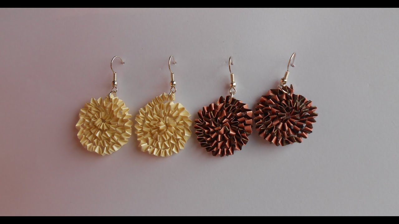 Papercraft How to make Paper Quilling Free Form Earrings