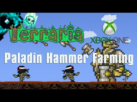 Terraria Xbox One Let's Play - Paladin Hammer Farming [45]