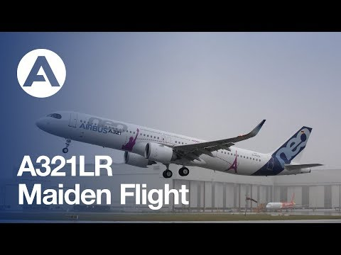 A321LR First Flight from Hamburg