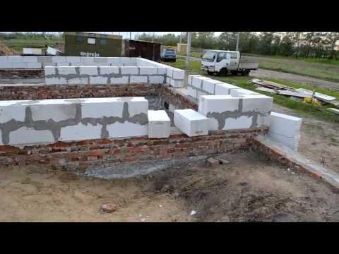 видео: Дом из Газобетона. Начало стройки Установка Сибита (день 1)