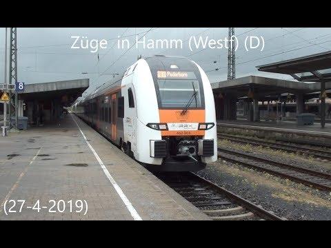 Züge in Hamm (Westf) (D) (27-4-2019)