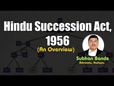 Hindu Succession Act 1956: An Overview by Subhan Bande, Advocate, Kadapa (Cuddapah)