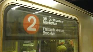 IRT Eastern Parkway Line: R62A 2 Train at Grand Army Plaza-Flatbush Ave (Weekend)