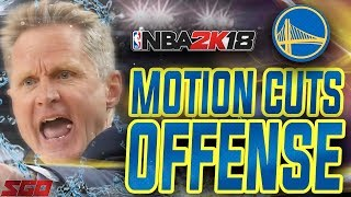 NBA 2K18 Tips: Best Motion Offense! GSW Motion Cuts Offense