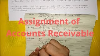 Assignment of Accounts Receivable- Nonnotification basis