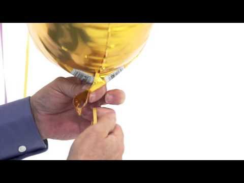 Как правильно завязывать ленту на фольгированном шаре